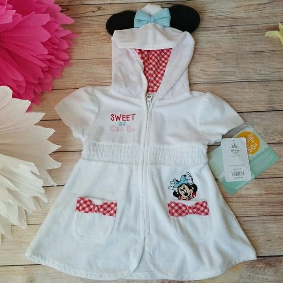 Walt Disney Minnie Mouse Girls Purple Hooded Sweatshirt Sz 3t 3e Tops & T-shirts Clothing, Shoes & Accessories